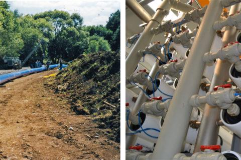 Distribución de agua y gas, redes de saneamiento