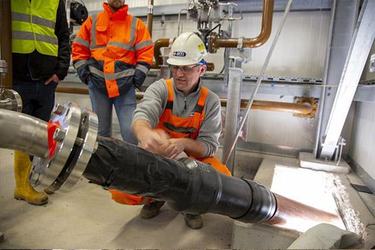 instalación tubería multicapa de barrera